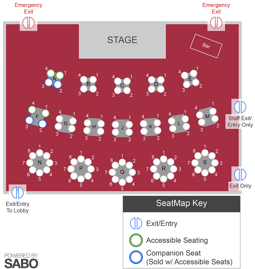 Sunset Playhouse Seating Chart