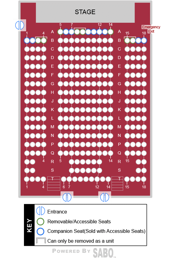 Seating Chart at Sunset Playhouse