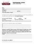 PROFESSIONAL Audition Sheet