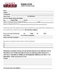 RISING STAR Audition Sheet